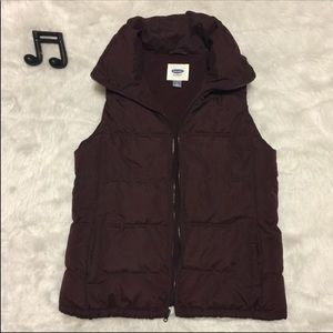 Old Navy Burgundy Puffer Vest